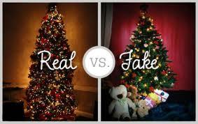 Christmas real fake