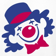 Clown-Face-(2c)++2013-T-Shirts